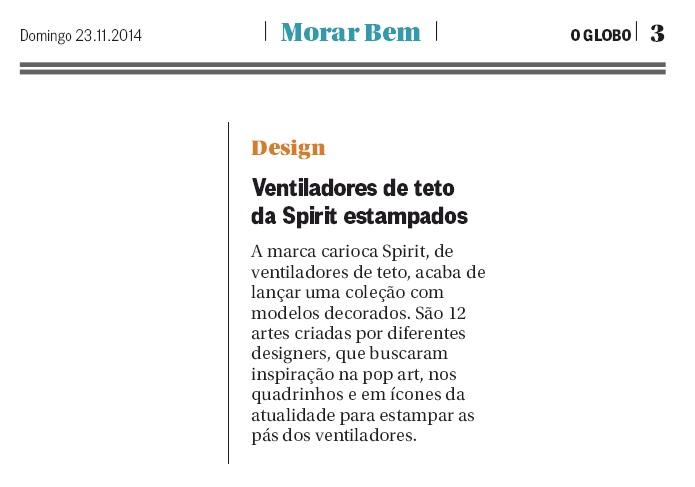 Mídia 2014 23.11.14 - O Globo - Morar Bem
