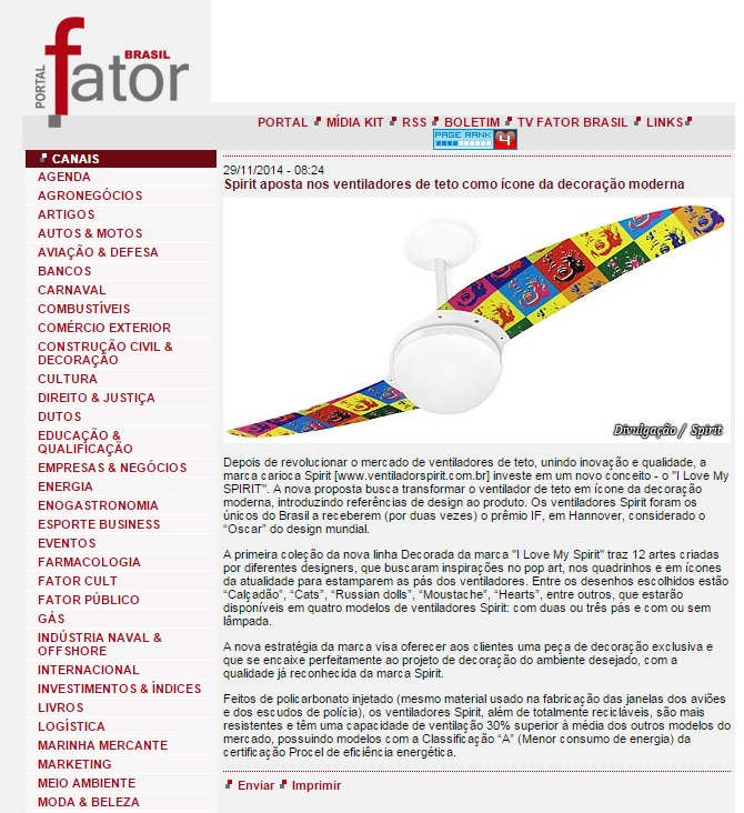 Mídia 2014 29.11.14 - Portal Fator Brasil