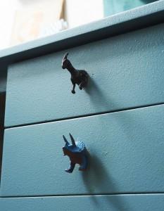 Puxador de gaveta dinossauro