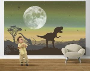 Parede pintada dinossauro