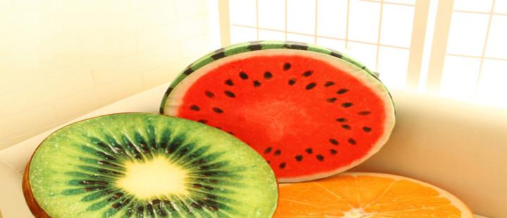 Almofadas de frutas