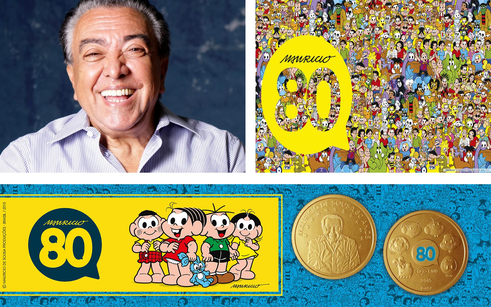 80 anos de Mauricio de Sousa