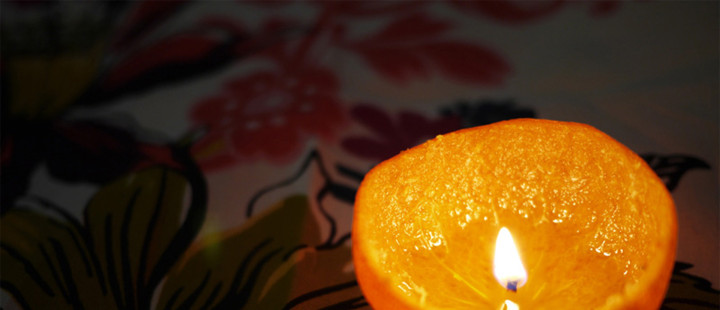 vela tangerina