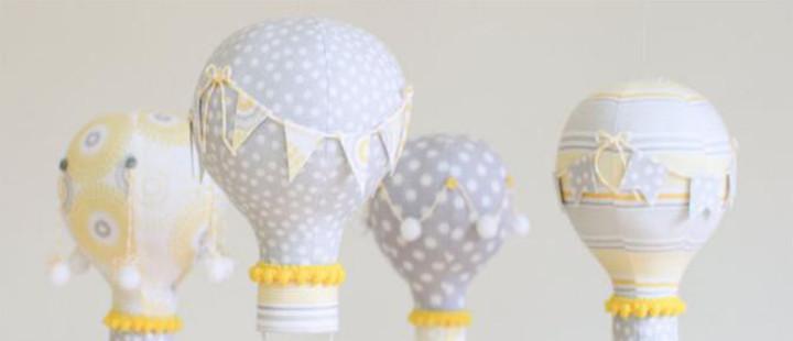 Balões feitos com lâmpadas