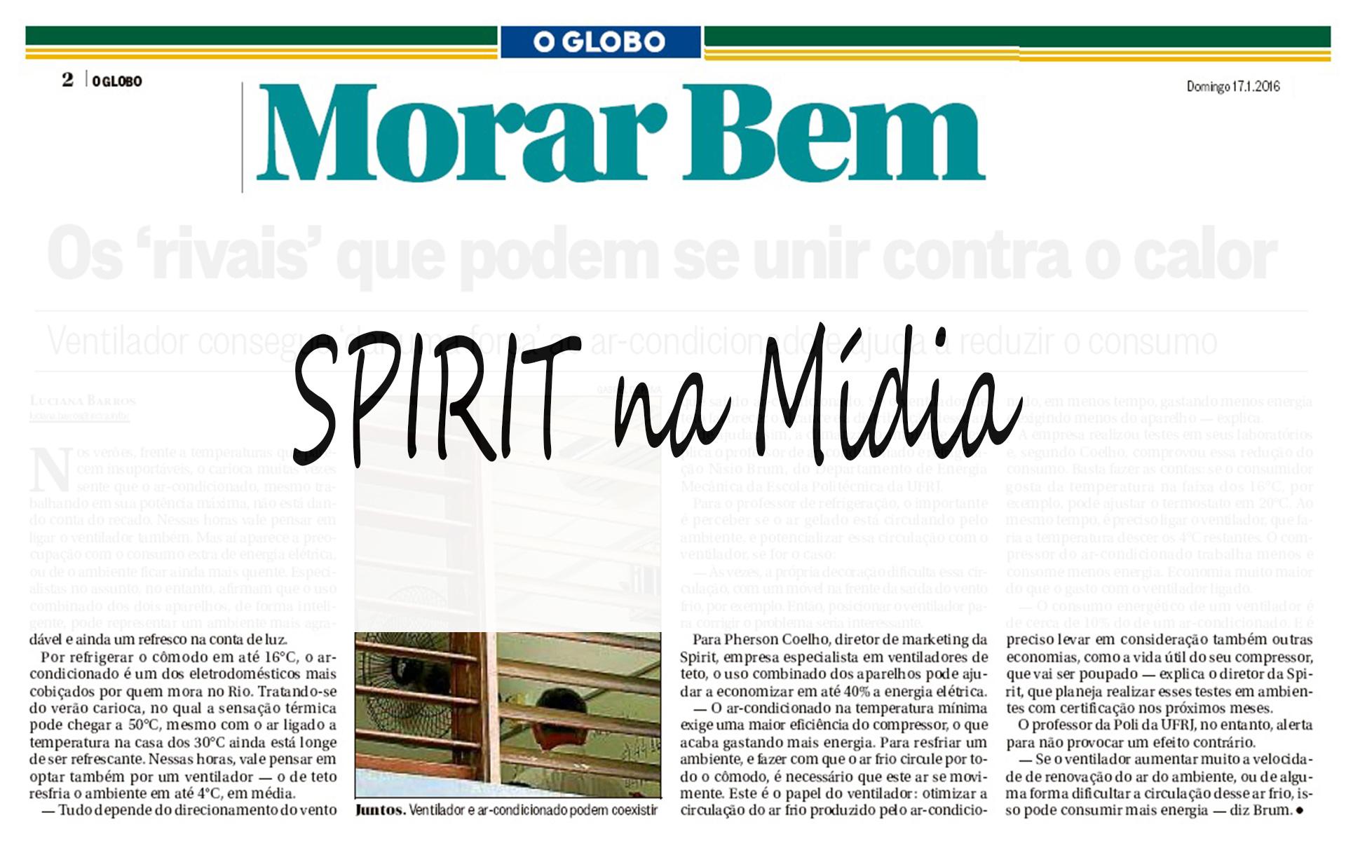 SPIRIT no Jornal O Globo