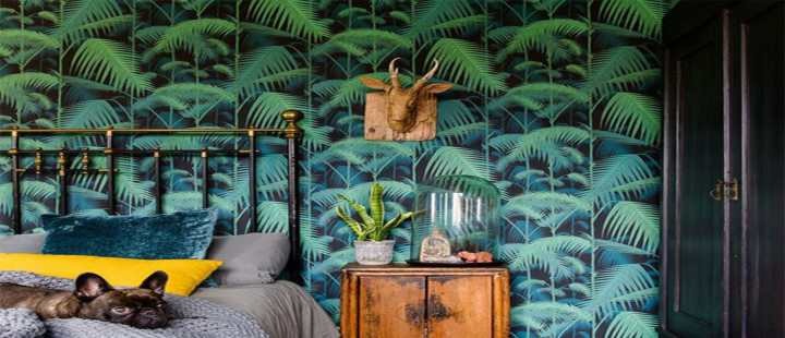 Quarto tropical e vintage