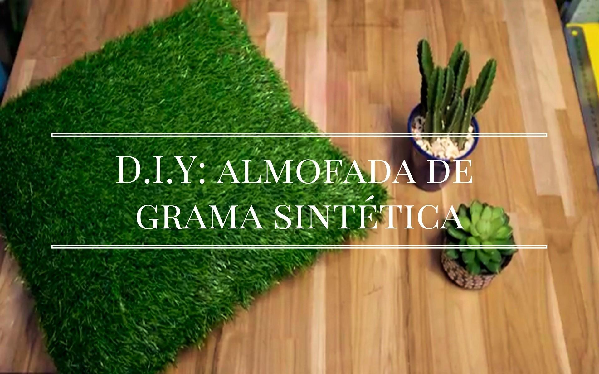 D.I.Y- Almofada de grama sintética