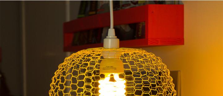 Luminária de tela
