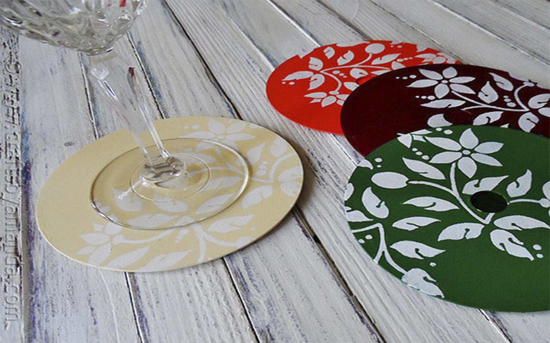 Porta-copos com CD