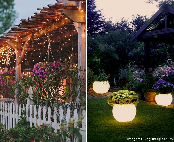 Ventiladores e luminárias Spirit - Blog Myspirit - jardim decorado com luzes de Natal - jardins criativos