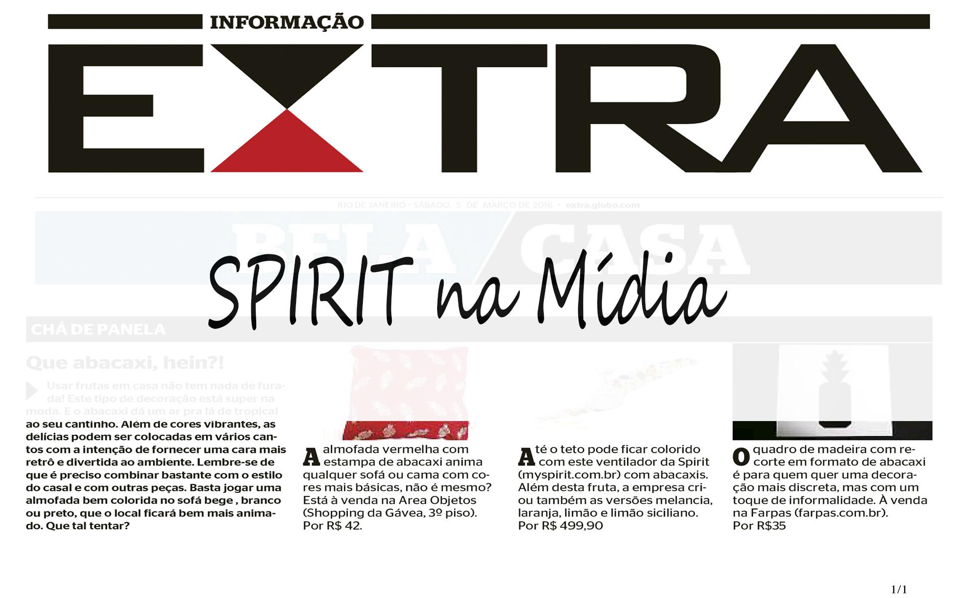 SPIRIT na mídia 2016