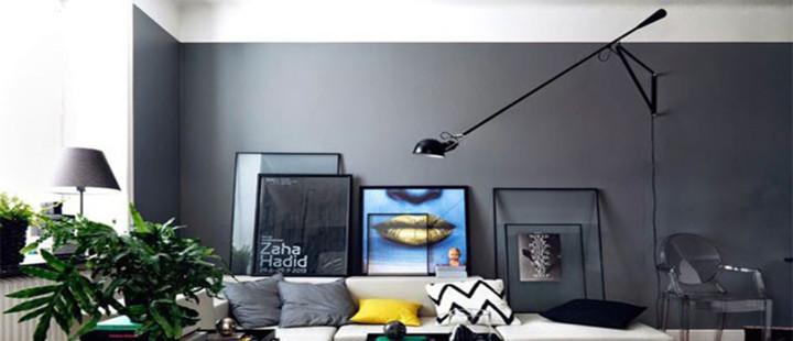 Sala de estar com decoração contemporânea e minimalista