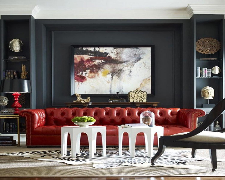 Vermelho e preto na decoração