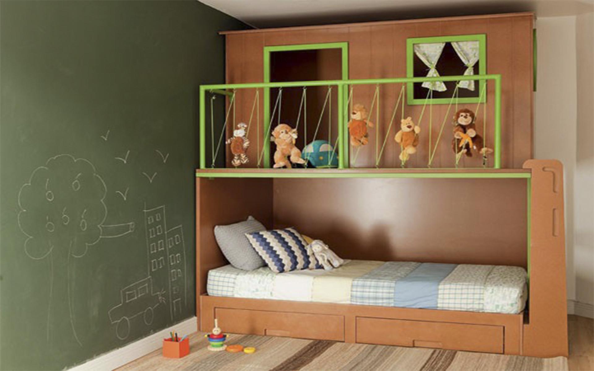 Quarto infantil estilo casa na árvore