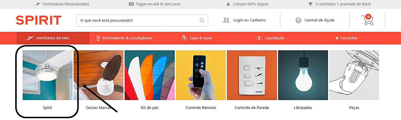 Seções do Site SPIRIT
