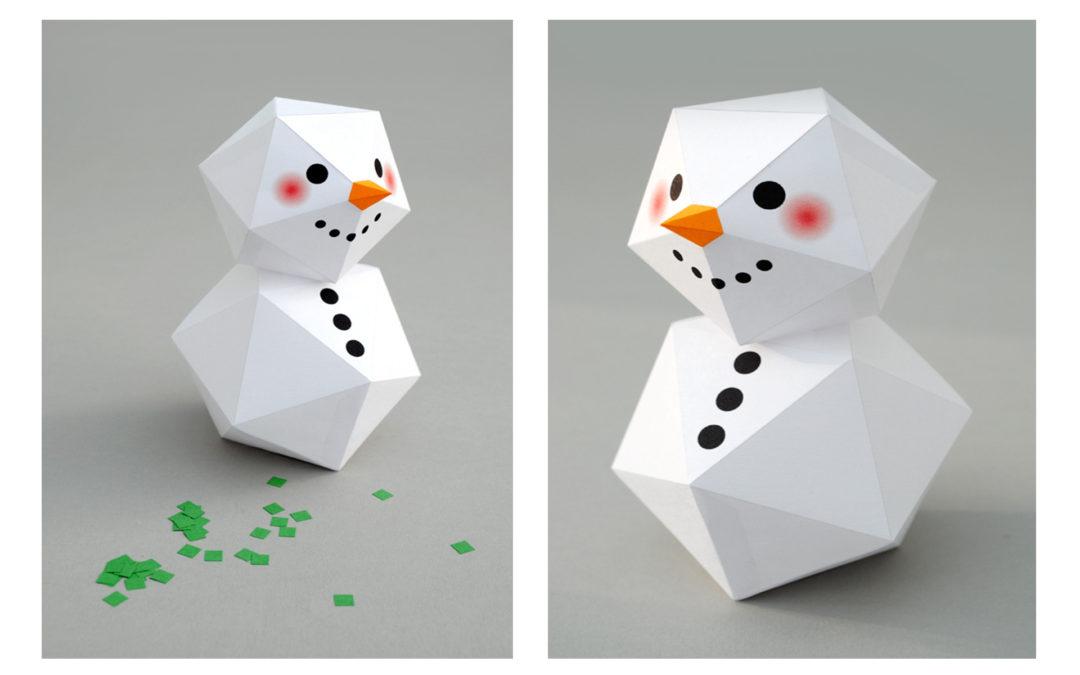 Boneco de neve em papel
