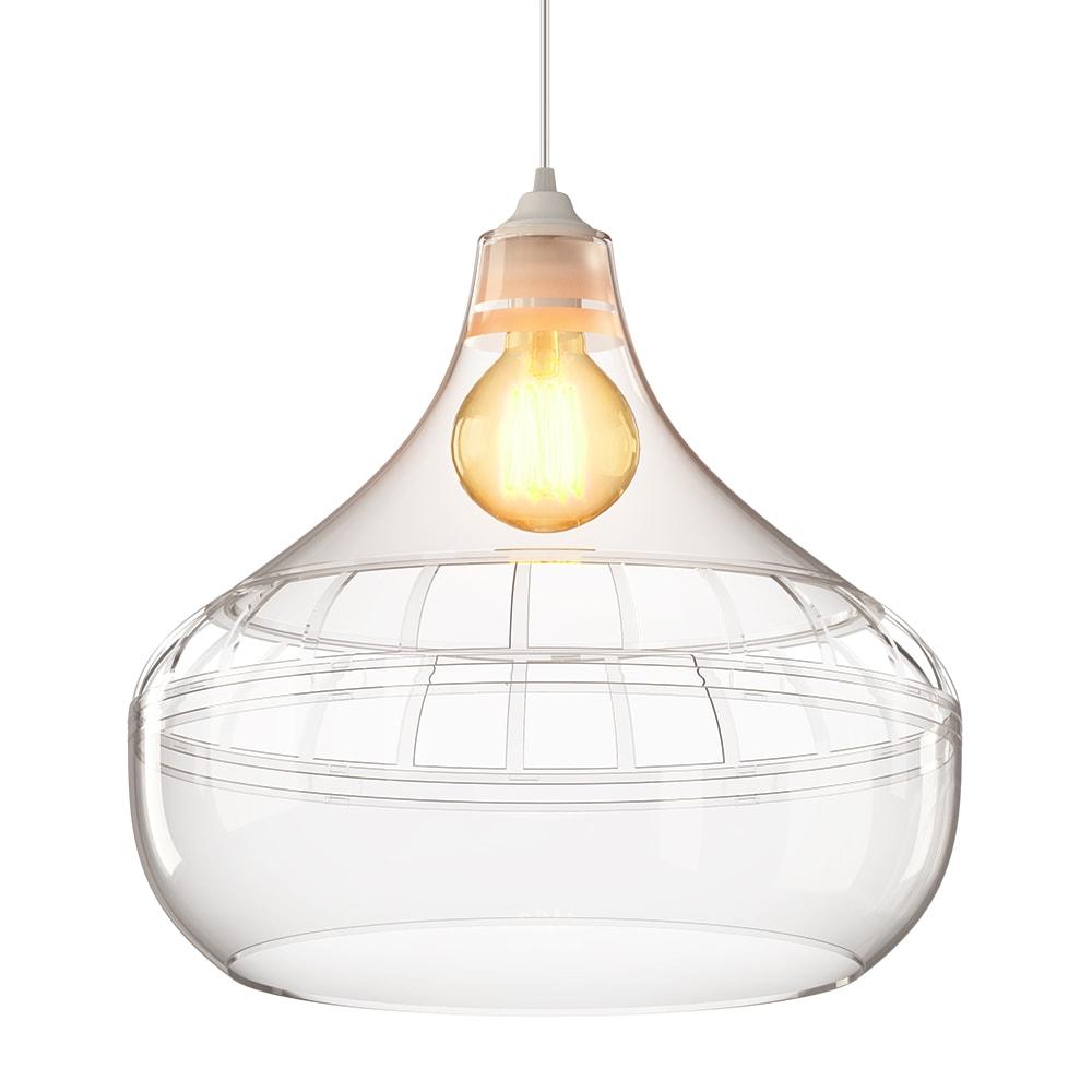 luminária pendente Spirit Combine- Luminária Pendente Spirit Combine 1430 Cristal - iluminação