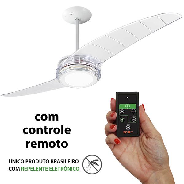 Ventiladores e luminárias Spirit - Blog Myspirit - Ventilador de Teto Spirit 203 Cristal LED Repelente Controle Remoto - ventilador de teto sielncioso