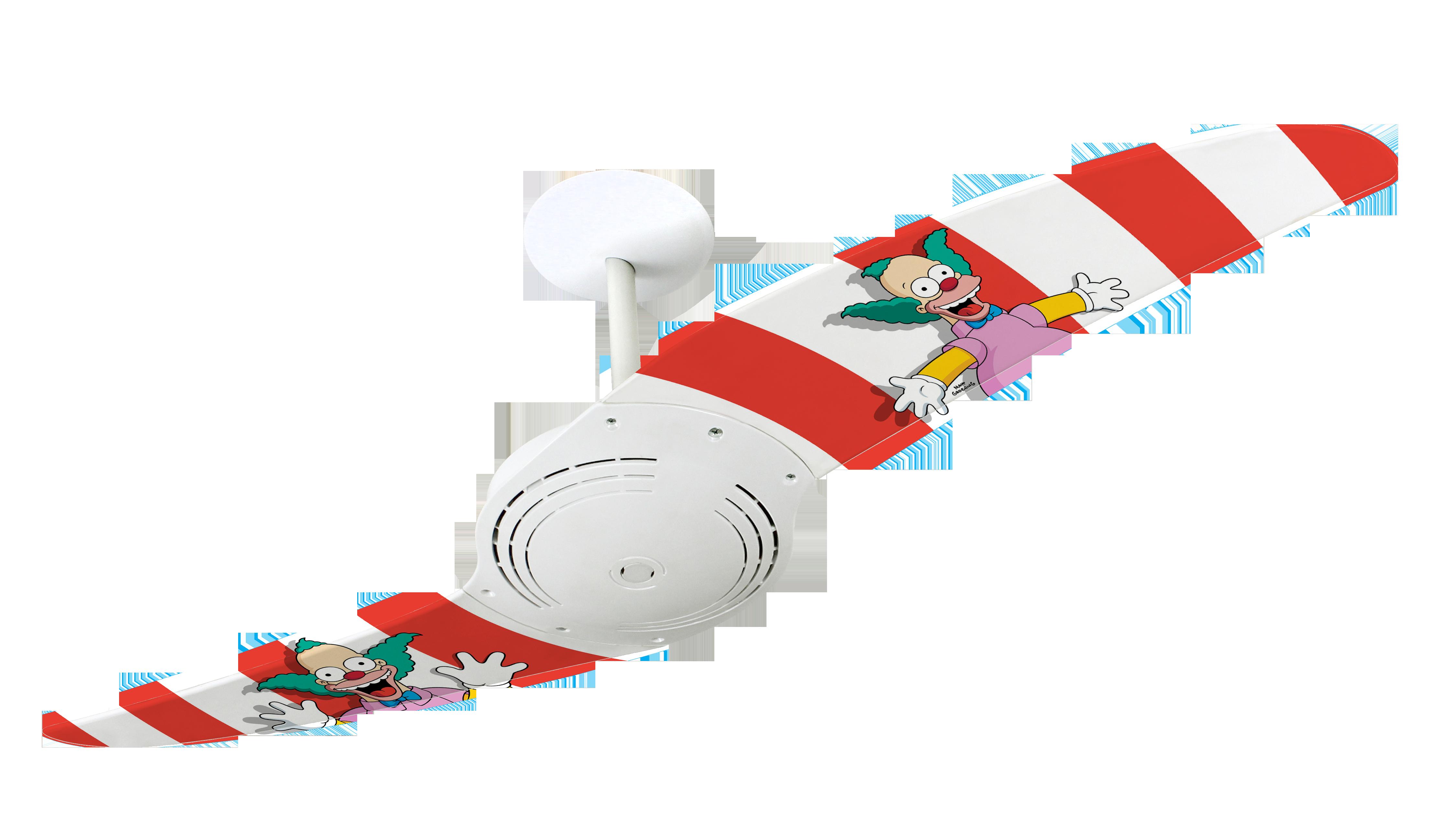 Ventilador de teto com estampa inspirada em circo