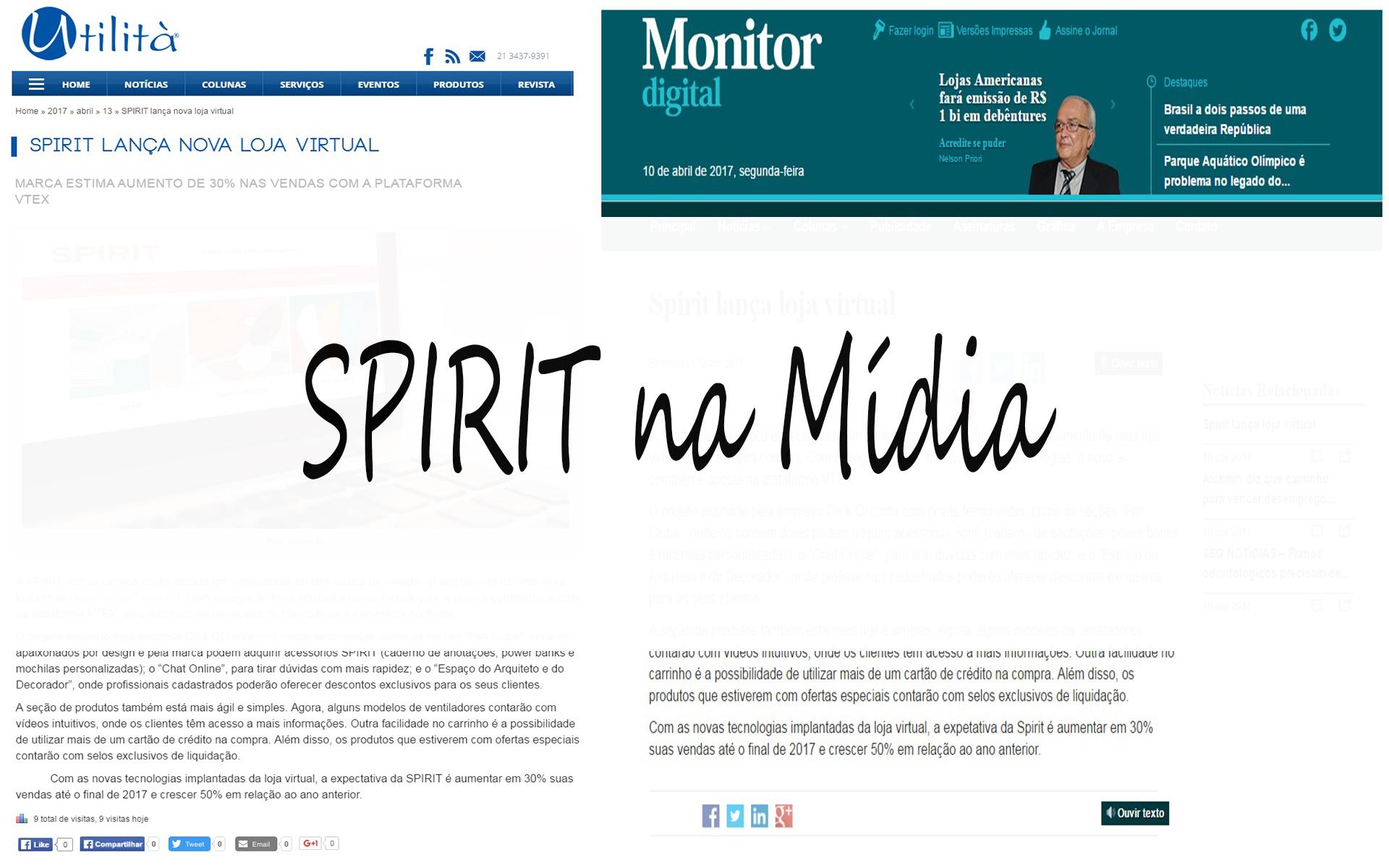 Capa Blog Spirit na Mídia