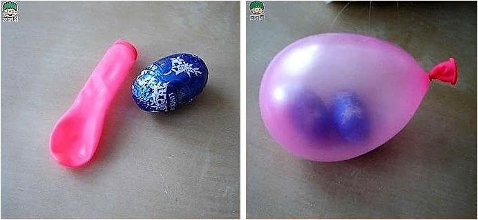 Balão de festa com bombom dentro