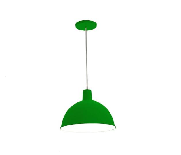 Luminária pendente verde