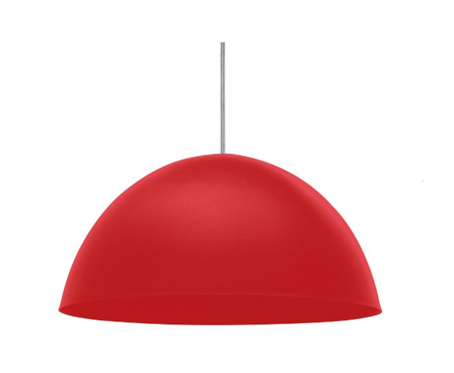 Luminária pendente vermelha