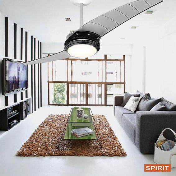 Ventilador de teto Spirit - Blog Myspirit - Ventilador de teto Spirit 203 Grafite com Lustre Flat - ventilador de teto com lustre