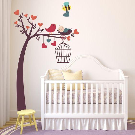 Ventilador de teto Spirit - Blog Myspirit - adesivo de parede passarinho - adesivos de parede para quarto de bebê