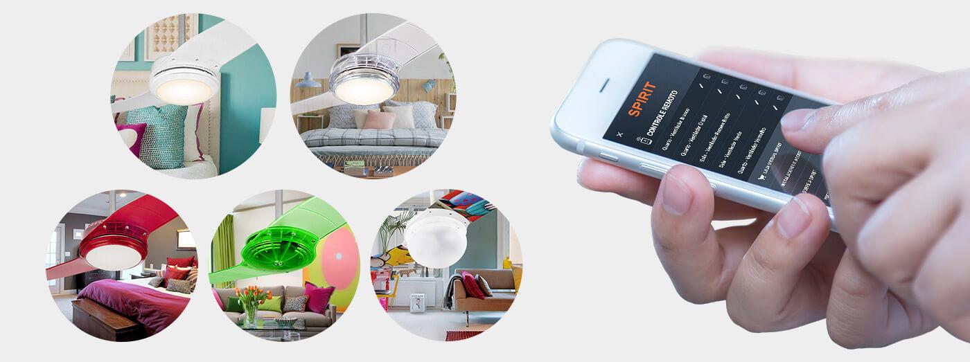 Ventilador de teto Spirit - Blog Myspirit - Controle até 5 ventiladores de teto pelo app - Ventilador de teto controlado por smartphone
