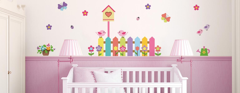 Ventilador de teto Spirit - Blog Myspirit - adesivos de parede acima do berço - berço - adesivos de parede para quarto de bebê
