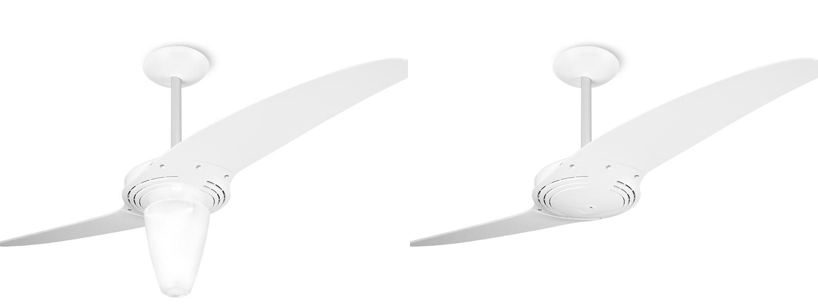 Ventilador de teto Spirit - Blog Myspirit - ventilador de teto Spirit 201 Branco com lustre cônico - ventilador de teto com lustre