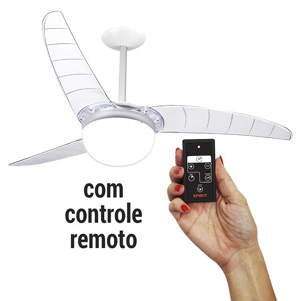 Ventiladores e luminárias Spirit - Blog Myspirit - Ventilador De Teto Spirit 302 Cristal Lustre Globo Controle Remoto - controle remoto do ventilador de teto