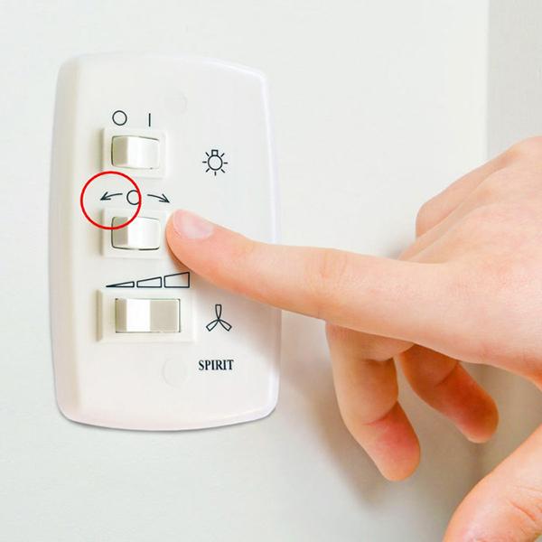 Ventiladores e luminárias Spirit - Blog Myspirit - controle de parede - função exaustão do ventilador de teto