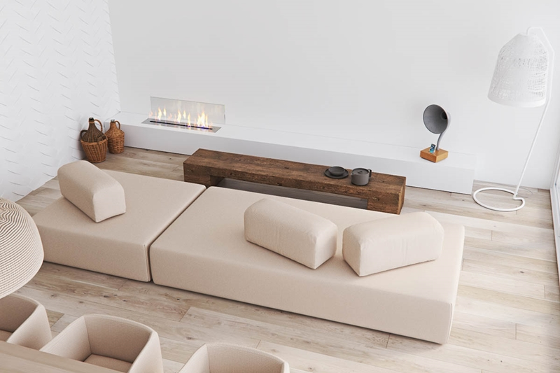 Ventilador de teto Spirit - Blog Myspirit - sala com decoração minimalista - decoração minimalista