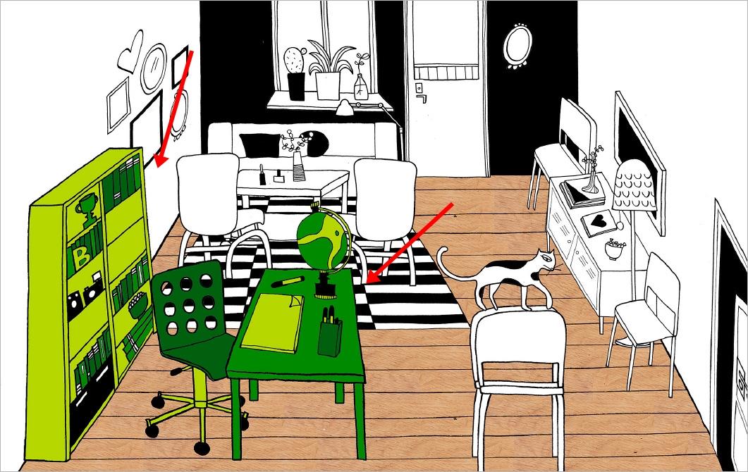 ventilador de teto Spirit - Blog Myspirit - sala de estar com espaço para trabalho - sala de estar