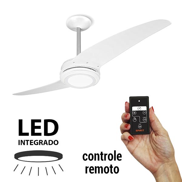 Ventiladores e luminárias Spirit - Blog Myspirit - Ventilador de Teto Spirit 203 Branco LED com Controle Remoto - controle remoto do ventilador de teto