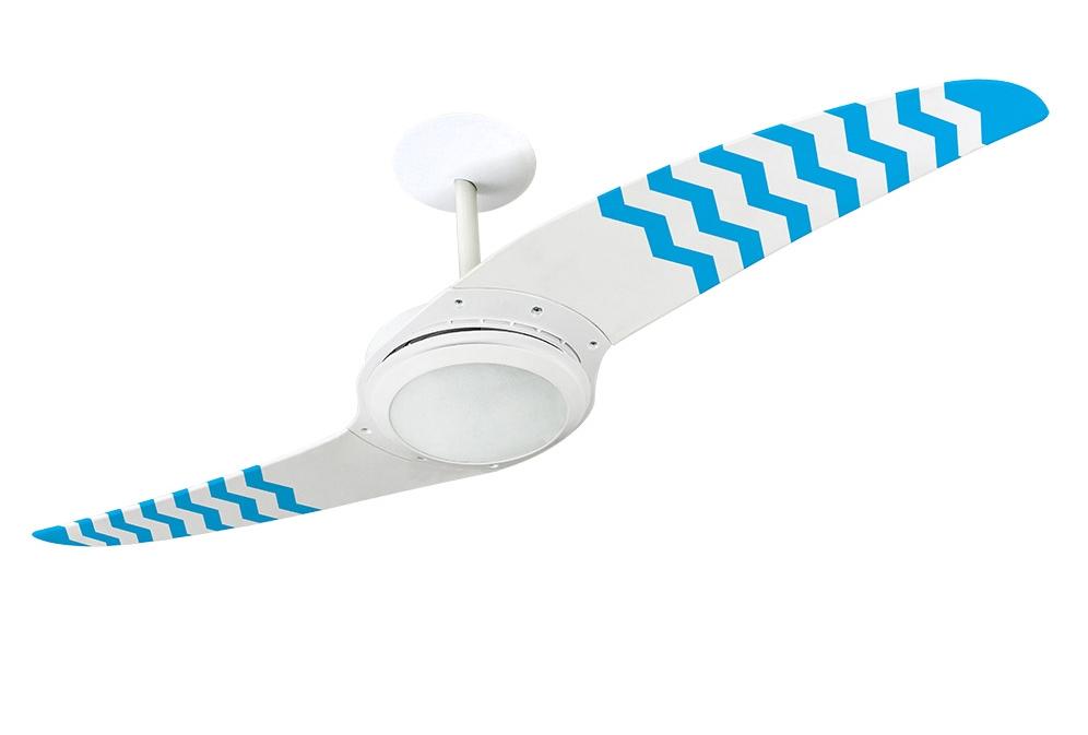 Ventilador de teto Spirit - Blog Myspirit - ventilador de teto Spirit ZigZag Azul - como fazer estojo escolar de tecido