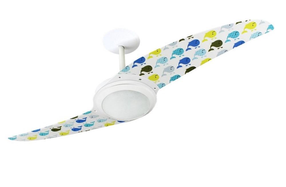 Ventilador de teto Spirit - Blog Myspirit - ventilador de teto Spirit Baleias Coloridas - como fazer estojo escolar de tecido
