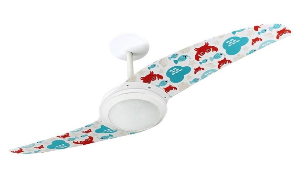 Ventilador de teto Spirit - Blog Myspirit - ventilador de teto Spirit Peixes e Caranguejos - como fazer estojo escolar de tecido
