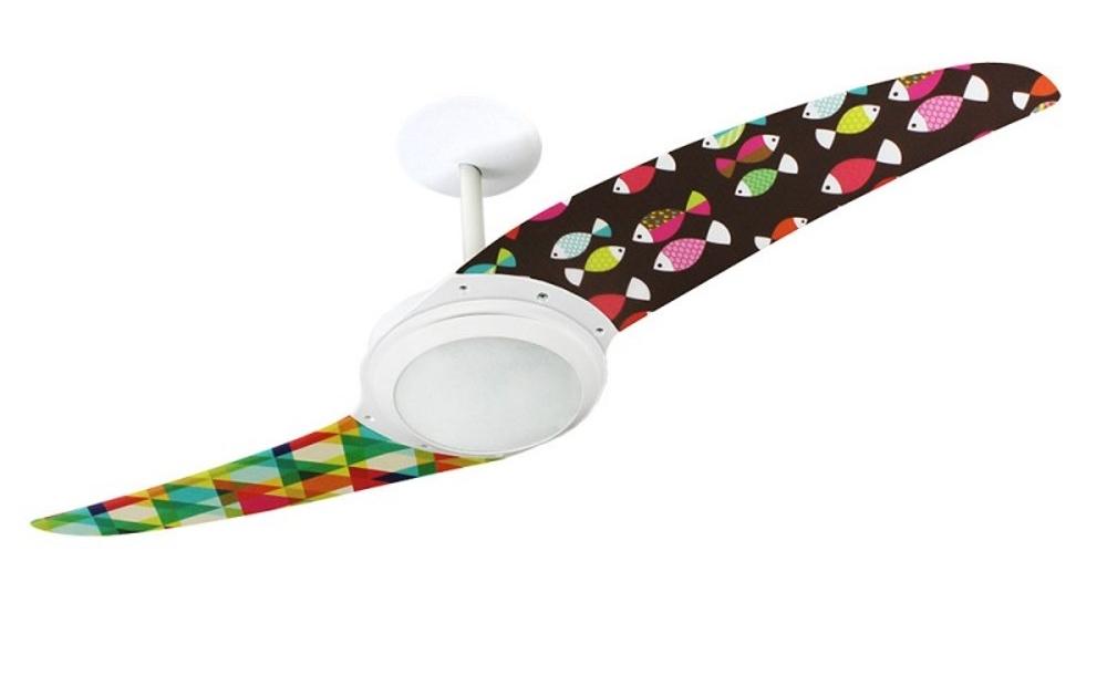 Ventilador de teto Spirit - Blog Myspirit - ventilador de teto Spirit Peixes Coloridos - como fazer estojo escolar de tecido