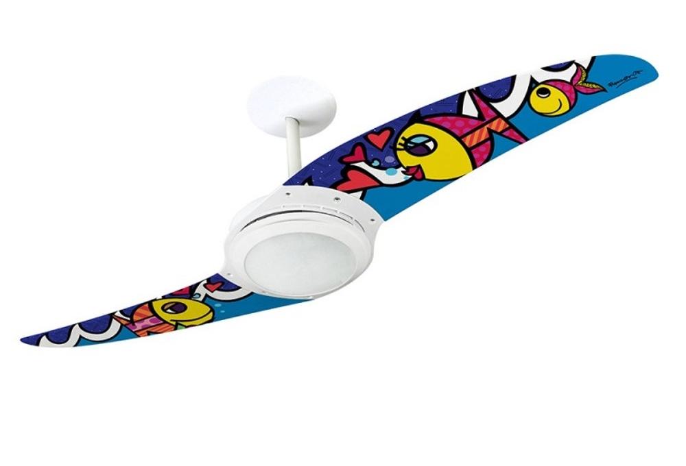 Ventilador de teto Spirit - Blog Myspirit - ventilador de teto Spirit Romero Britto - como fazer estojo escolar de tecido