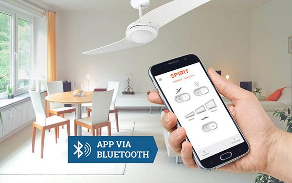Ventiladores e luminárias Spirit - Blog Myspirit - ventilador de teto controlado por aplicativo - controle remoto do ventilador de teto