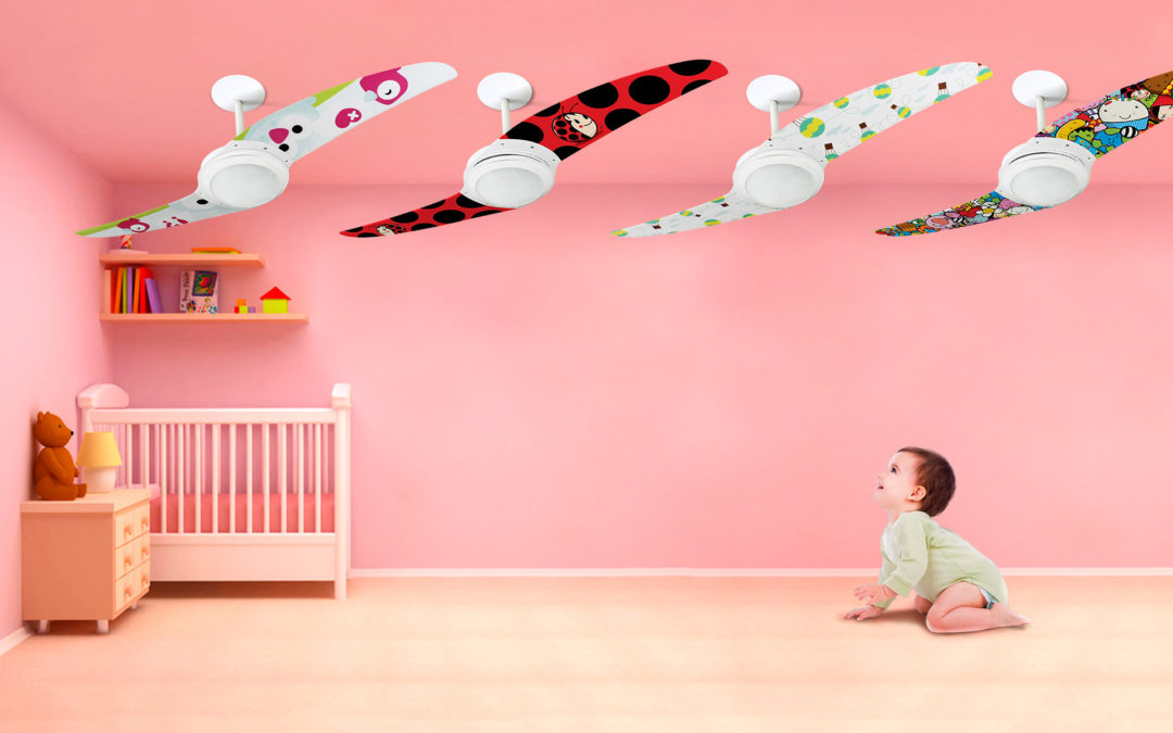 Ventilador de teto Spirit - Blog Myspirit - ventiladores de teto Spirit para quarto infantil - adesivos de parede para quarto de bebê