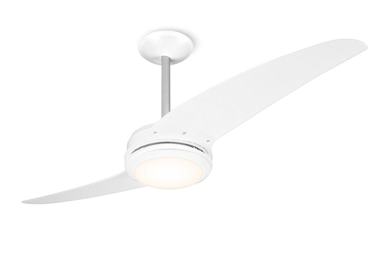Ventilador de teto Spirit - Blog Myspirit - Ventilador de Teto Spirit 203 Branco Lustre Flat - decoração minimalista