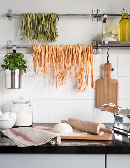 ventilador de teto Spirit - Blog Myspirit - varão de cortina para secar massa fresca - varão de cortina