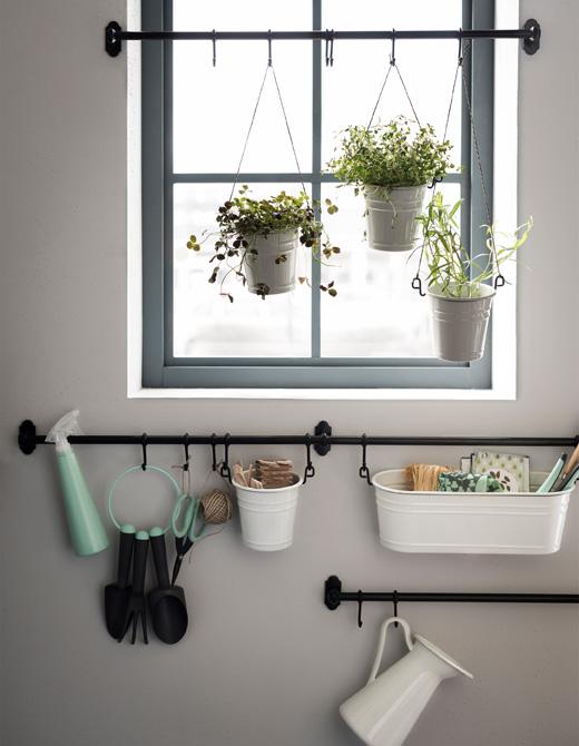 ventilador de teto Spirit - Blog Myspirit - varão de cortina para arrumar seus utensílios de jardinagem - varão de cortina