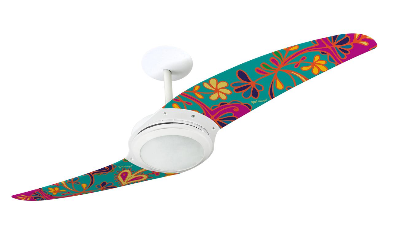 ventilador de teto Spirit - Blog Myspirit - quarto com decoração hippie - ventilador de teto moderno para quarto