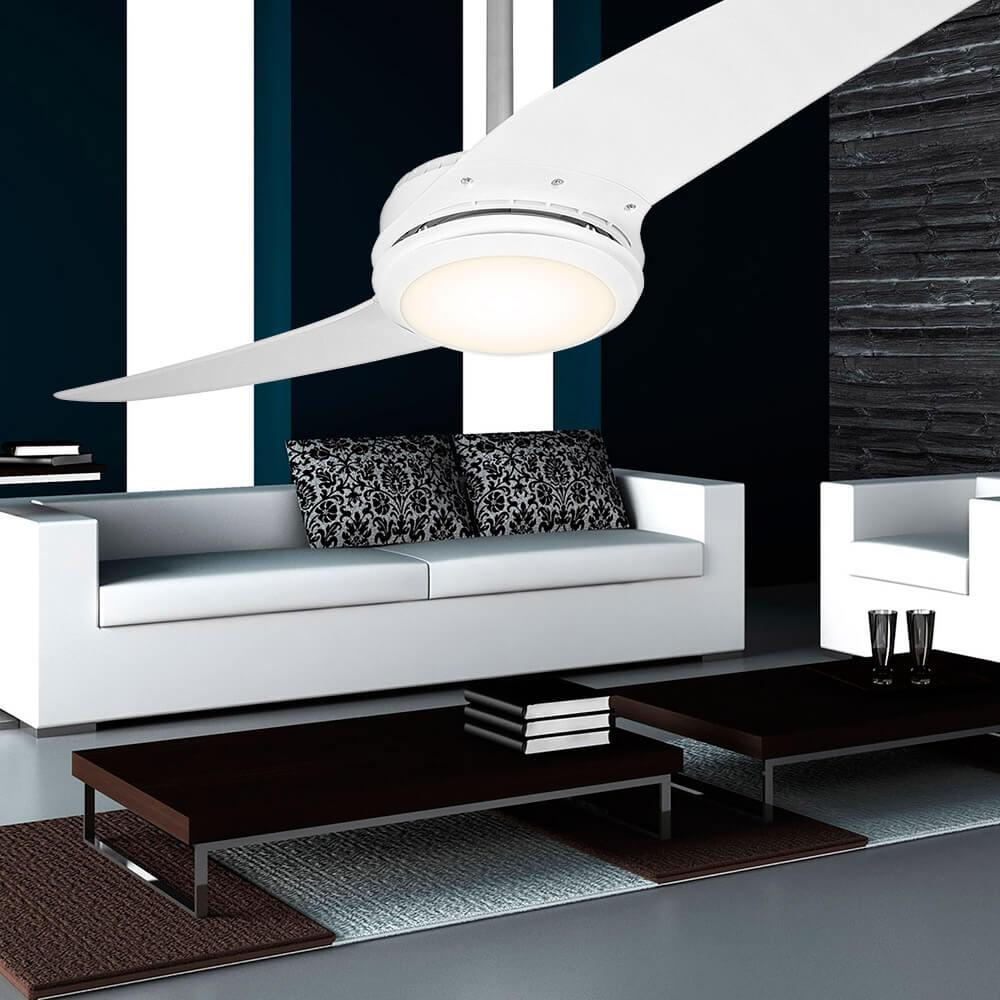 Ventilador de teto Spirit - Blog Myspirit - sala com ventilador de teto branco - ventilador de teto branco