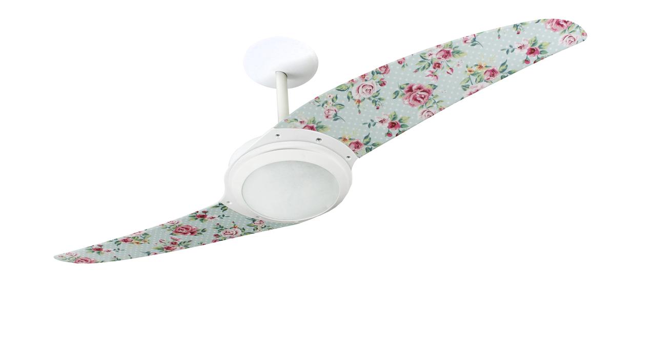 ventilador de teto Spirit - Blog Myspirit - quarto com decoração romântica - ventilador de teto moderno para quarto